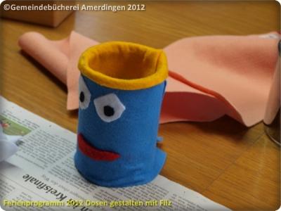 Ferienprogramm 2012 Dosen gestalten mit Filz_11