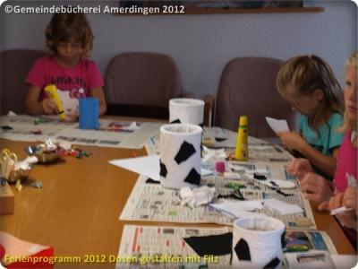 Ferienprogramm 2012 Dosen gestalten mit Filz_12