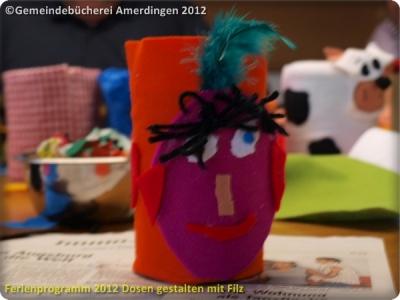 Ferienprogramm 2012 Dosen gestalten mit Filz_14