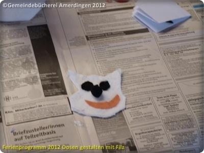 Ferienprogramm 2012 Dosen gestalten mit Filz_16