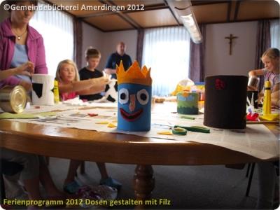 Ferienprogramm 2012 Dosen gestalten mit Filz_17