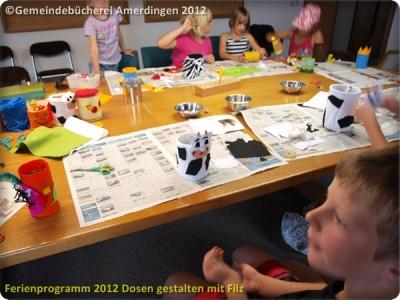Ferienprogramm 2012 Dosen gestalten mit Filz_19