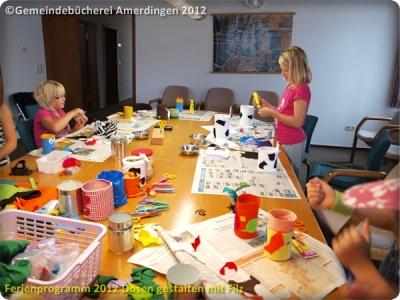 Ferienprogramm 2012 Dosen gestalten mit Filz_21