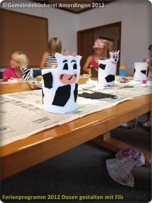 Ferienprogramm 2012 Dosen gestalten mit Filz_22