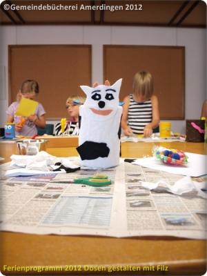 Ferienprogramm 2012 Dosen gestalten mit Filz_23