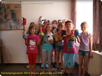 Ferienprogramm 2012 Dosen gestalten mit Filz_25