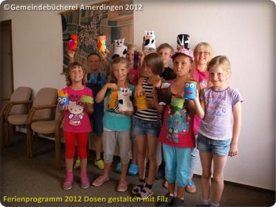 Ferienprogramm 2012 Dosen gestalten mit Filz_26