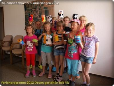 Ferienprogramm 2012 Dosen gestalten mit Filz_27