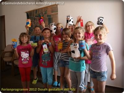 Ferienprogramm 2012 Dosen gestalten mit Filz_29