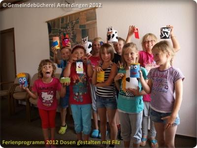 Ferienprogramm 2012 Dosen gestalten mit Filz_30