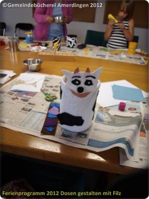 Ferienprogramm 2012 Dosen gestalten mit Filz_31