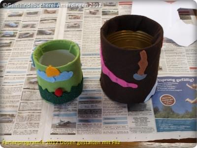 Ferienprogramm 2012 Dosen gestalten mit Filz_35