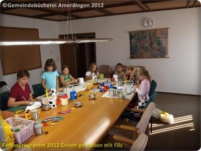 Ferienprogramm 2012 Dosen gestalten mit Filz_43