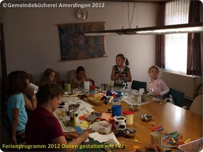 Ferienprogramm 2012 Dosen gestalten mit Filz_45