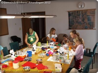 Ferienprogramm 2012 Dosen gestalten mit Filz_46