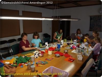 Ferienprogramm 2012 Dosen gestalten mit Filz_47