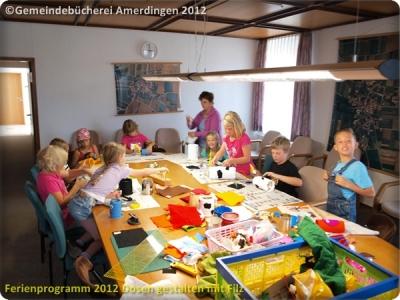 Ferienprogramm 2012 Dosen gestalten mit Filz_4