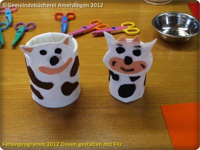 Ferienprogramm 2012 Dosen gestalten mit Filz_51