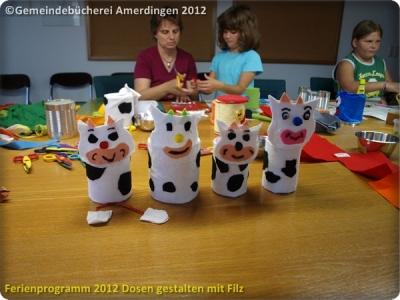 Ferienprogramm 2012 Dosen gestalten mit Filz_52