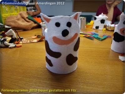 Ferienprogramm 2012 Dosen gestalten mit Filz_54