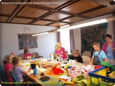 Ferienprogramm 2012 Dosen gestalten mit Filz_5