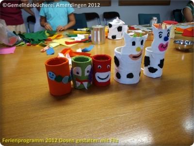 Ferienprogramm 2012 Dosen gestalten mit Filz_60